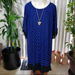 Catherines Dresses - Plus Catherine's striped design dress